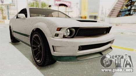 GTA 5 Vapid Dominator v2 SA Style para la visión correcta GTA San Andreas