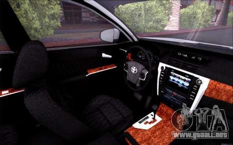 Toyota Camry V6 Sprot Edition para vista lateral GTA San Andreas