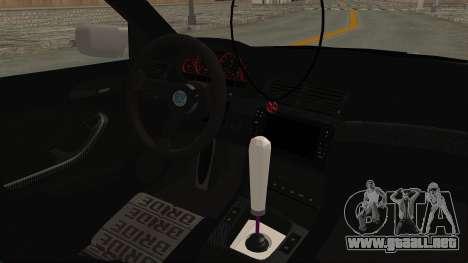 BMW 3 Series E46 para visión interna GTA San Andreas