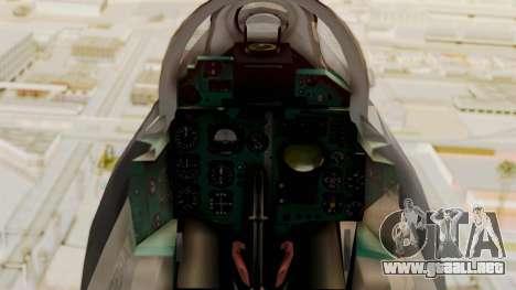 MIG-21 BIS de la Fuerza Aérea Argentina para la visión correcta GTA San Andreas