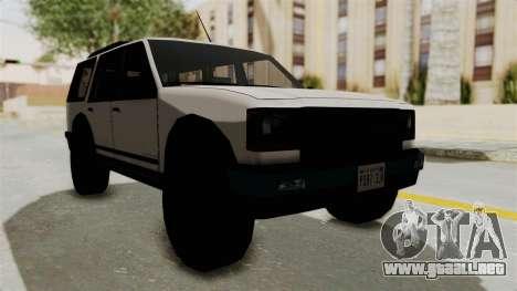 Dundreary Landstalker 1992 para la visión correcta GTA San Andreas