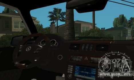 Mercedes G55 Kompressor para GTA San Andreas interior