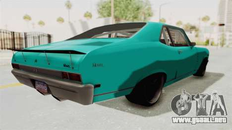 Chevy Nova 454 para GTA San Andreas vista posterior izquierda