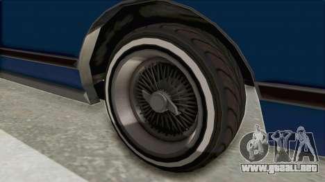 GTA 5 Dundreary Virgo Classic Custom v1 IVF para GTA San Andreas vista hacia atrás