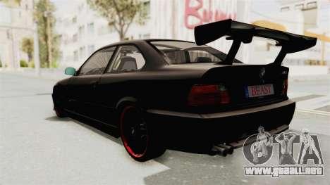 BMW M3 E36 Beast para la visión correcta GTA San Andreas