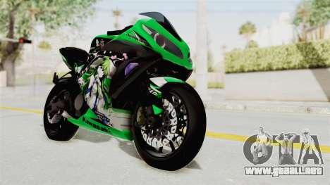 Kawasaki Ninja 250FI Kochiya Sanae Itasha para la visión correcta GTA San Andreas