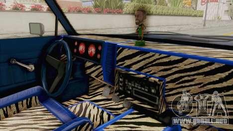 GTA 5 Dundreary Virgo Classic Custom v1 IVF para visión interna GTA San Andreas