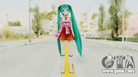 Project Diva F2nd - Hatsune Miku (Shrine Maiden) para GTA San Andreas segunda pantalla