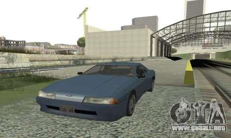 Estándar Elegía con un alerón retráctil para GTA San Andreas