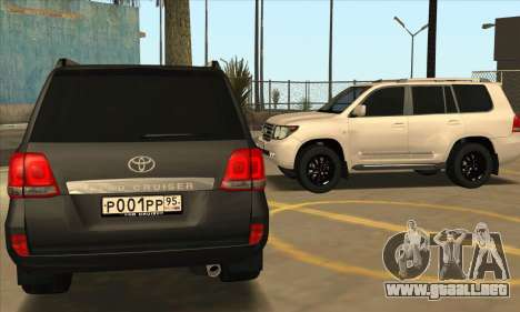 Toyota Land-Cruiser 200 para la vista superior GTA San Andreas