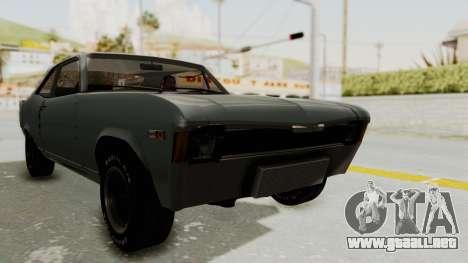 Chevrolet Nova 1969 StreetStyle para la visión correcta GTA San Andreas