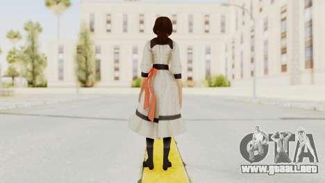 Bioshock Infinite Elizabeth Young para GTA San Andreas tercera pantalla