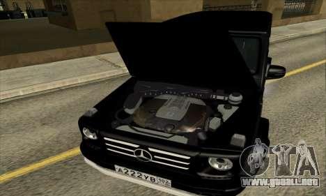 Mercedes G55 Kompressor para la vista superior GTA San Andreas