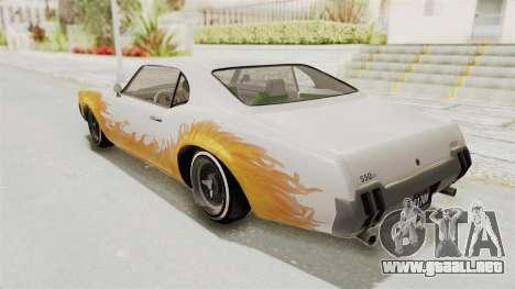 GTA 5 Declasse Sabre GT2 B para la vista superior GTA San Andreas