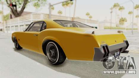 GTA 5 Declasse Sabre GT2 B IVF para GTA San Andreas left