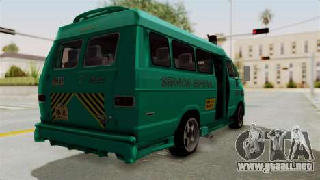 Dodge Ram Van Microbus 1977 para GTA San Andreas left