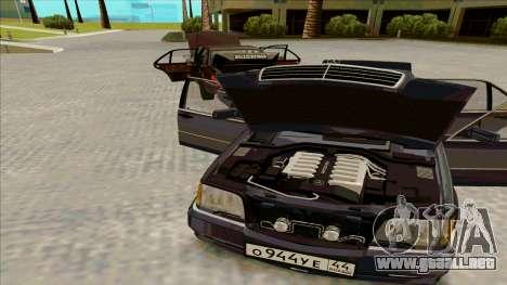 Mercedez-Benz W140 para GTA San Andreas vista posterior izquierda