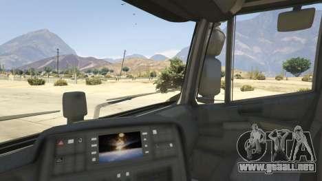 GTA 5 Iveco Stralis HI-WAY vista lateral trasera derecha