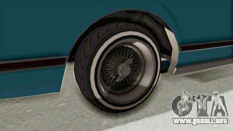 GTA 5 Dundreary Virgo Classic Custom v3 para visión interna GTA San Andreas