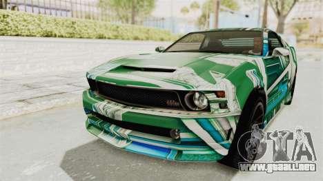 GTA 5 Vapid Dominator v2 SA Style para las ruedas de GTA San Andreas