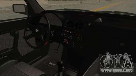 BMW M3 E30 Camber Low para visión interna GTA San Andreas