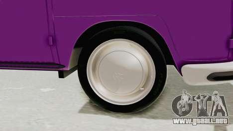 Volkswagen T1 Station Wagon De Luxe Type2 1963 para GTA San Andreas vista hacia atrás