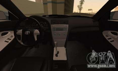Toyota Camry 2007 para la visión correcta GTA San Andreas