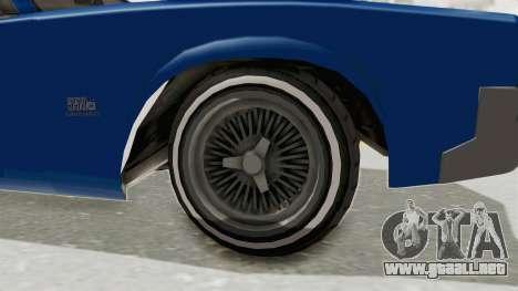 GTA 5 Declasse Sabre GT2 A para GTA San Andreas vista hacia atrás