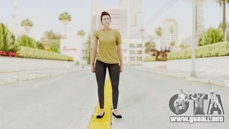 GTA 5 Online Female Skin 1 para GTA San Andreas segunda pantalla