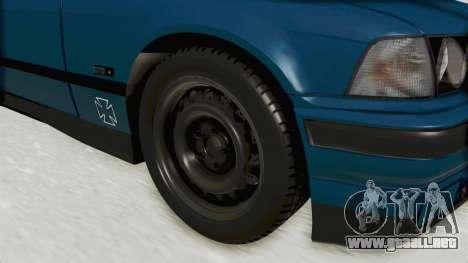BMW 325i E36 para GTA San Andreas vista hacia atrás