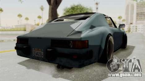 Comet 911 GermanStyle para GTA San Andreas vista posterior izquierda