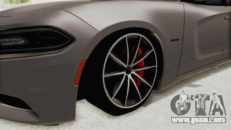 Dodge Charger RT 2015 para GTA San Andreas vista hacia atrás