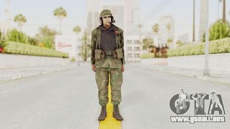 MGSV Ground Zeroes US Pilot v2 para GTA San Andreas segunda pantalla