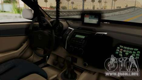 Toyota Fortuner JPJ White para GTA San Andreas vista hacia atrás