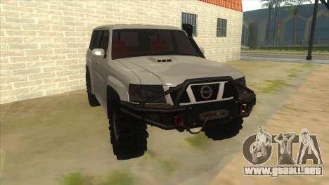 Nissan Patrol Y61 para GTA San Andreas vista hacia atrás