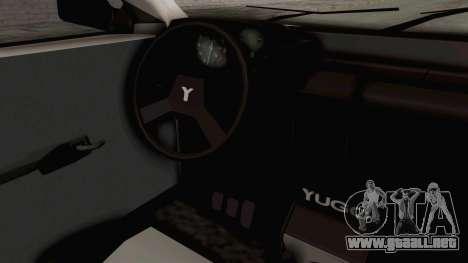 Zastava Yugo Koral 55 para visión interna GTA San Andreas