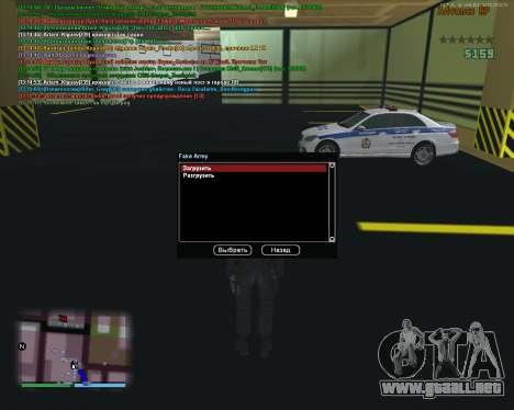 CLEO Fakearmy para GTA San Andreas segunda pantalla