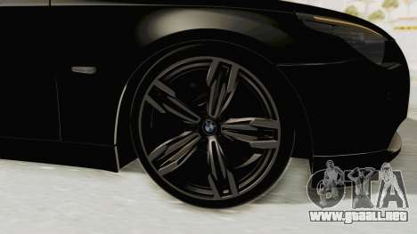 BMW 530D E60 para GTA San Andreas vista hacia atrás