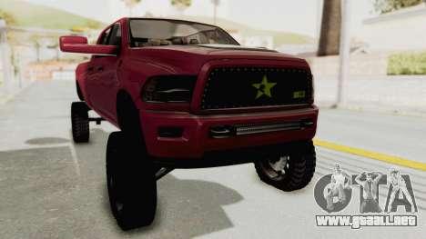 Dodge Ram Megacab Long Bed para la visión correcta GTA San Andreas