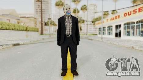 Joker Heist Outfit GTA 5 Style para GTA San Andreas segunda pantalla