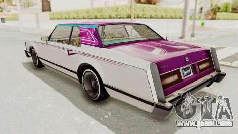 GTA 5 Dundreary Virgo Classic Custom v2 IVF para las ruedas de GTA San Andreas