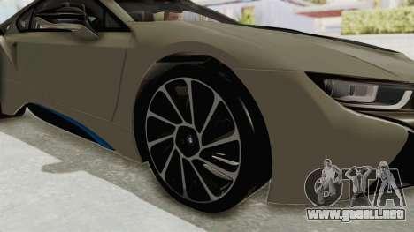 BMW i8-VS 2015 para GTA San Andreas vista hacia atrás