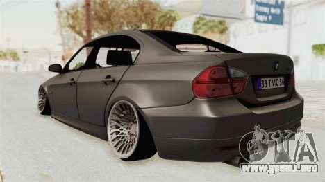 BMW 330i E92 Camber para GTA San Andreas vista posterior izquierda