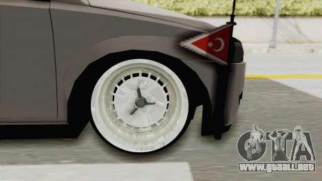 Opel Corsa para GTA San Andreas vista hacia atrás
