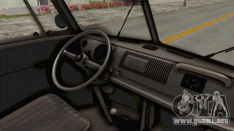 Volkswagen T1 Station Wagon De Luxe Type2 1963 para visión interna GTA San Andreas