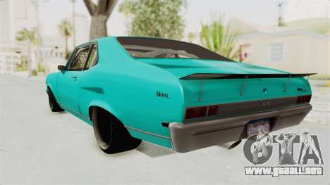 Chevy Nova 454 para GTA San Andreas left