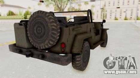 MGSV Jeep No LMG para GTA San Andreas left