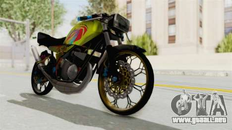 Yamaha RX King 200 CC Killing Ninja para GTA San Andreas vista posterior izquierda