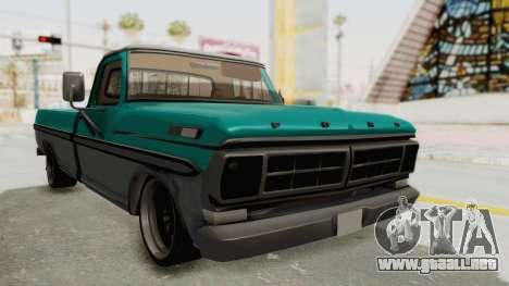 Ford F-150 Black Whells Edition para la visión correcta GTA San Andreas