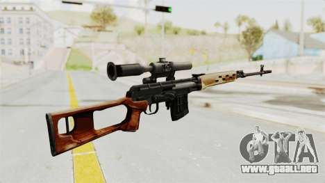 Sniper with New Realistic Crosshair para GTA San Andreas segunda pantalla